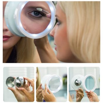 Magnifying Makeup Mirror with LED Light and Magnet
