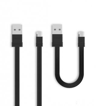 Remax Tengy 2x USB / Micro USB Cable Set 1M/16CM, Black | Два Кабелья для Зарядки