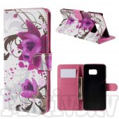 Samsung Galaxy S6 edge+ plus SM-G928F Leather Wallet Stand Case Cover, lotus flower – vāks vāciņš maks maciņš