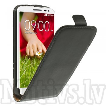 LG Optimus G2 mini D610 D618 D620 D620R D620K Vertical Flip Leather Case Cover, black - aksesuārs vāks maks