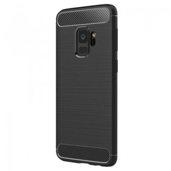 Huawei Y7 Carbon, black TPU Case Cover