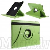 Samsung Galaxy Tab A 9.7 T550 T555 Rotary Stand Leather Case Cover, green - vāks apvalks pārvalks maks