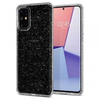 Samsung Galaxy S20+ Plus Spigen Liquid Crystal Glitter TPU Case Cover, transparent - обложка бампер