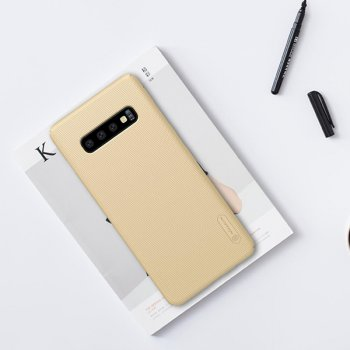 Samsung Galaxy S10 (G973F) NILLKIN Super Frosted PC Case Cover - Gold
