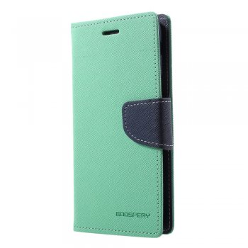 Samsung Galaxy J6 2018 SM-J600F DS Mercury Goospery Fancy Diary Case Leather Cover, cyan