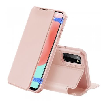 Samsung Galaxy A41 (SM-A415F) DUX DUCIS Skin X Auto-absorbed Leather Cell Phone Case Cover,Pink | Чехол Кошелёк Книжка для Телефона