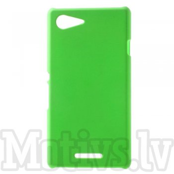 Sony Xperia E3 D2202 D2203 D2206 D2243 Dual D2212 Rubberized Hard Shell Bumper Case Cover, green - aksesuārs vāks bamperis