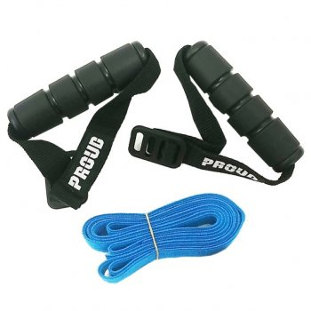 PROUD Adjustable fitness resistance strap band Expander Blue