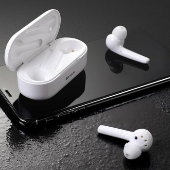 Baseus Encok W07 Ūdensizturīgas Bluetooth Bezvadu Austiņas, Balts | Waterproof mini wireless earphone Bluetooth