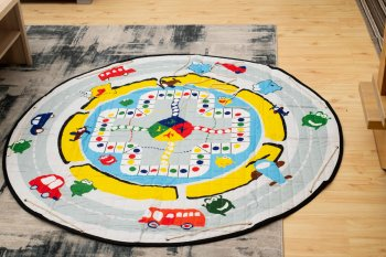 Mat for Children Circle + Board Game 144cm