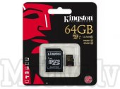Kingston 64GB microSDXC Memory Card (Class 10 UHS-I U1 45MB/s write) - atmiņas karte