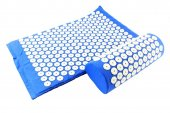 Акупунктурный коврик - Acupressure Massage Mat + pillow (73x 44cm, Blue)