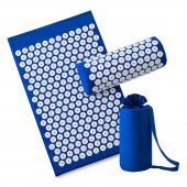 Акупунктурный коврик - Acupressure Massage Mat + pillow (65x 40cm, Blue)