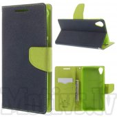HTC Desire 820 / Dual Mercury Goospery Fancy Diary Case Leather Cover, green/blue – aksesuārs vāks maks
