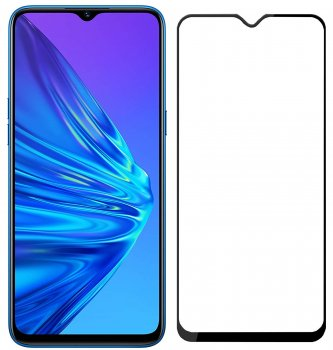 5D Tempered Glass Screen Protector For Xiaomi Redmi 9, black | Защитное Стекло На Экран
