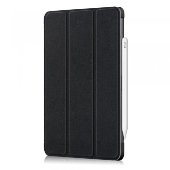 "Apple iPad Pro 11.0"" (2018) Tri-fold Stand Smart Crazy Horse Leather Case, black"