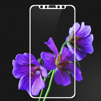 "5D Full Screen Full Glue Tempered Glass Protector for Apple iPhone X / Xs / 10 / 11 Pro 5.8"", White 