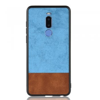 Meizu X8 PU Leather Coated PC + TPU Hybrid Protection Case Cover, Blue - vāks vāciņš maks maciņš