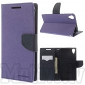 HTC Desire 820 / Dual Mercury Goospery Fancy Diary Case Leather Cover, blue/purple – aksesuārs vāks maks