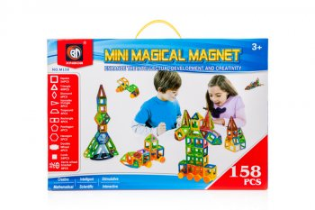 Magical Magnet Blocks Bricks Educational Building Toy 158 pcs |Mini Magical Magnet