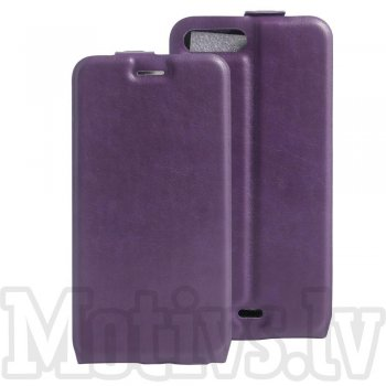 "Apple iPhone 7 Plus 5.5"" Crazy Horse Leather Vertical Flip Cover Case, purple - vāks maks"