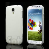Samsung Galaxy S4 i9500 i9502 i9505 Frosted TPU Gel Case Bumper Cover, white - aksesuārs vāks bamperis