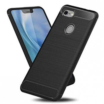 Google Pixel 3A XL Carbon TPU Gel Case Bumper Cover, black - silikona vāks maks apvalks