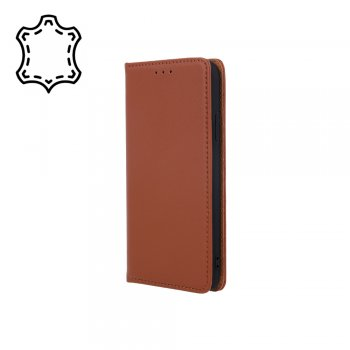 Samsung Galaxy A41 (SM-A415F) Genuine Leather Wallet Phone Cover, Brown