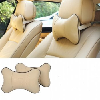 Travel Car Pillow Neck Rest Cushion, Set of 2 pcs