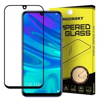 5D Huawei P Smart Plus (2019) Tempered Glass Screen Protector [Full Glue] - Black