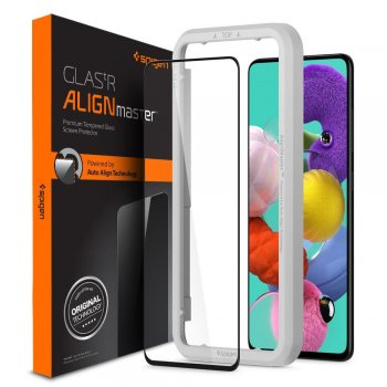 5D Spigen Aling Master Full Screen Tempered Glass for Samsung Galaxy A51 (SM-A515F)
