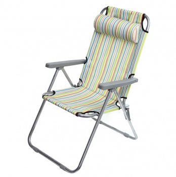 Folding Tourism Garden Beach Lounge Chair with Headrest, Different Colors