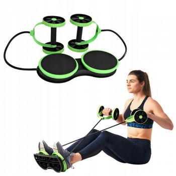 Rotary Double Twister Disc with Resistance Bands Expanders Slim Waist Fitness Gear