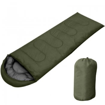 Mummy Type Tourist Sleeping Bag 210x75cm, Khaki