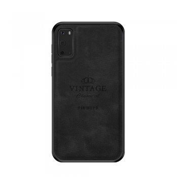 Samsung Galaxy S20 PINWUYO PU Leather Coated PC + TPU Case Cover - Black | Telefona vāciņš maciņš bampers