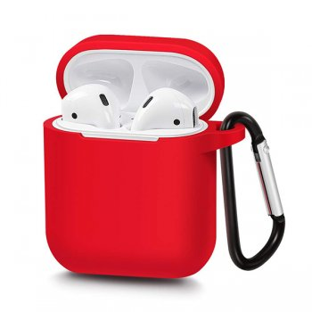 AirPods 2gen / 1gen Silicon Simple Case Cover, Red