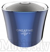 Creative Woof 3 Portable Bluetooth Mini Speaker, blue - portatīvais skaļrunis