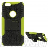 "Apple iPhone 6 6S 4.7"" Grip PC + TPU Hybrid Case with Kickstand, green – bamperis ar paliktni"
