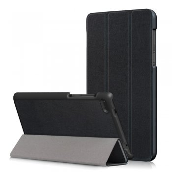 Lenovo Tab 7 Essential (TB-7304F) Tri-fold Stand Smart Leather Case, black - vāks apvalks pārvalks