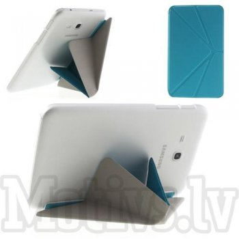 Samsung Galaxy Tab 3 7.0 Lite T110 T111 T113 Tab 3 V T116 Origami Leather Stand Cover Case, blue