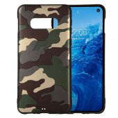 Samsung Galaxy S10e (Lite) (G970F) Camouflage TPU Cover - Green / Зелёный