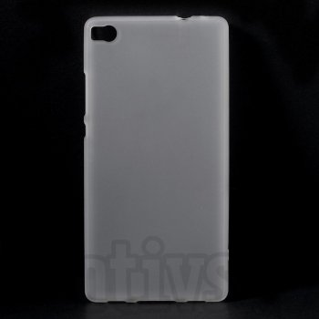 "Huawei Ascend P8 5.2"" Frosted TPU Gel Case Bumper Cover, transparent - aksesuārs vāks bamperis"