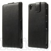 Sony Xperia Z3 D6603 D6643 D6653 D6616 L55t Vertical Flip Leather Magnetic Cover Case, black - maks maciņš vāks vāciņš