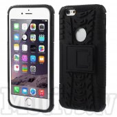 "Apple iPhone 6 6S 4.7"" Grip PC + TPU Hybrid Case with Kickstand, black – vāciņš-bamperis ar paliktni"