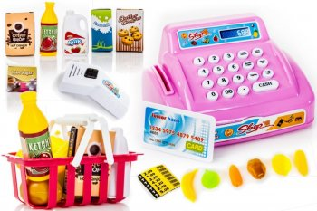 Rotaļu Kases Aparāts Ar karti un piederumiem | Toy Cash Register with Accessories
