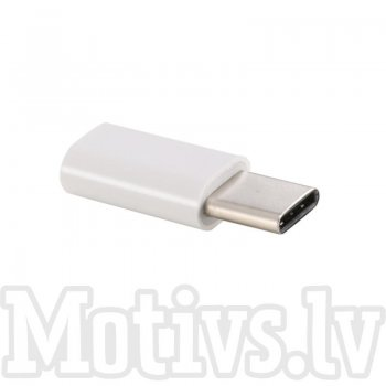 Adapter MicroUSB Type -C, white - адаптер с micro usb на type c