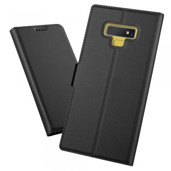 Samsung Galaxy Note 9 SM-N960F Leather Wallet Case Cover - Black | Vāciņš maciņš apvalks