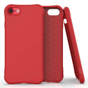 Apple iPhone 8 / 7 / SE (2020) 4'7 Soft Color Flexible Gel Case Cover, Red