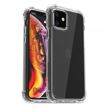 Apple iPhone 11 IPAKY Drop-resistant Clear TPU + PC Cover, transparent - обложка бампер