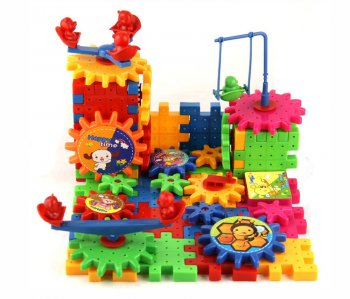 Constructor Building Blocks Bricks with Moving Elements 81 pcs.